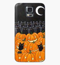 Black Cats & Jack-o-Lanterns Case/Skin for Samsung Galaxy