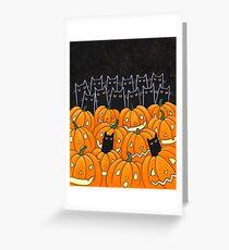 Black Cats & Jack-o-Lanterns Greeting Card