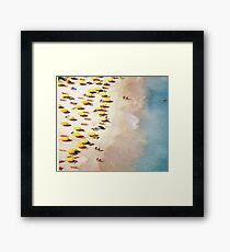 A Day at the Sandy Seashore Framed Print