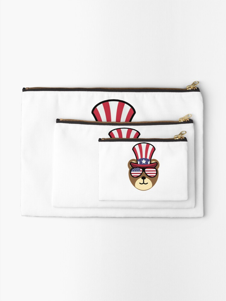 Vista alternativa de Bolsos de mano Bear Happy 4th Of July