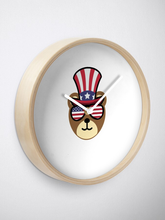 Vista alternativa de Reloj Bear Happy 4th Of July
