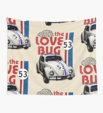 Herbie The Love Bug Wall Tapestry