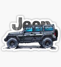 4dr Jk Unlimited - Black Sticker