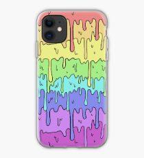 Pastel Kawaii Melting Rainbow Design  iPhone Case