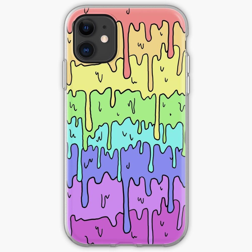 Pastel Kawaii Melting Rainbow Design  iPhone Case & Cover