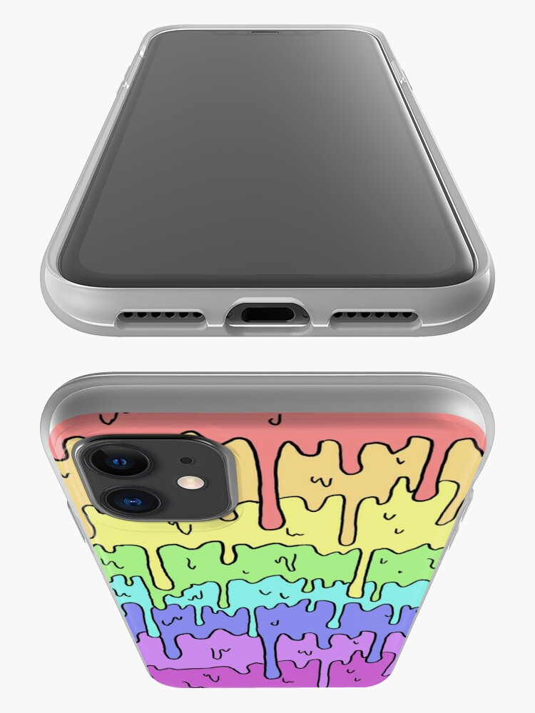 Alternate view of Pastel Kawaii Melting Rainbow Design  iPhone Case & Cover