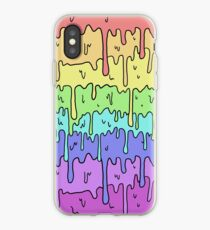 Pastel Kawaii Melting Rainbow Design  iPhone Case