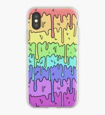 Pastell Kawaii schmelzender Regenbogen-Entwurf iPhone-Hülle & Cover