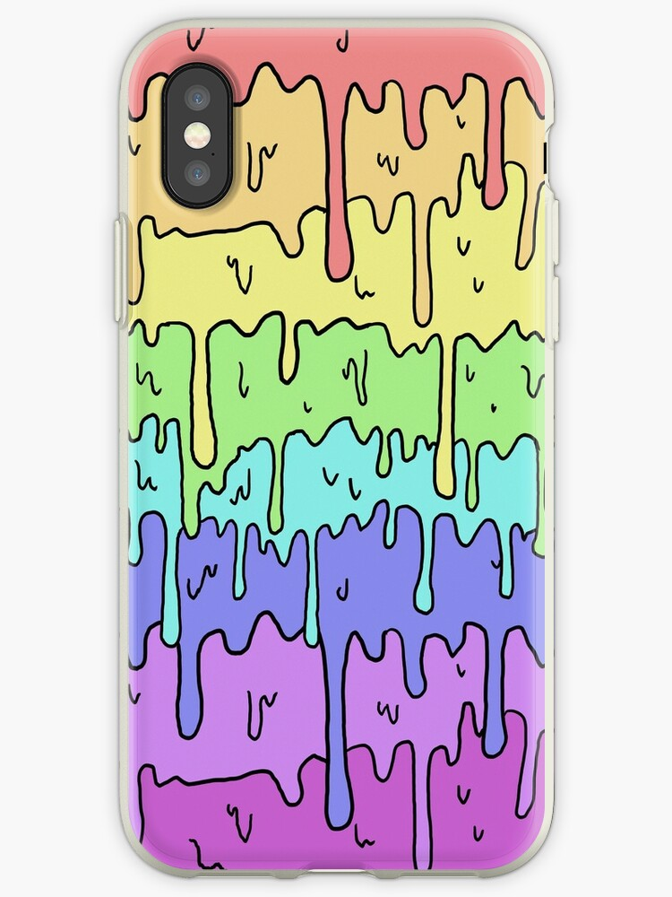 Pastell Kawaii schmelzender Regenbogen-Entwurf von Limolida