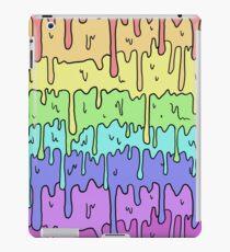 Pastell Kawaii schmelzender Regenbogen-Entwurf iPad-Hülle & Klebefolie