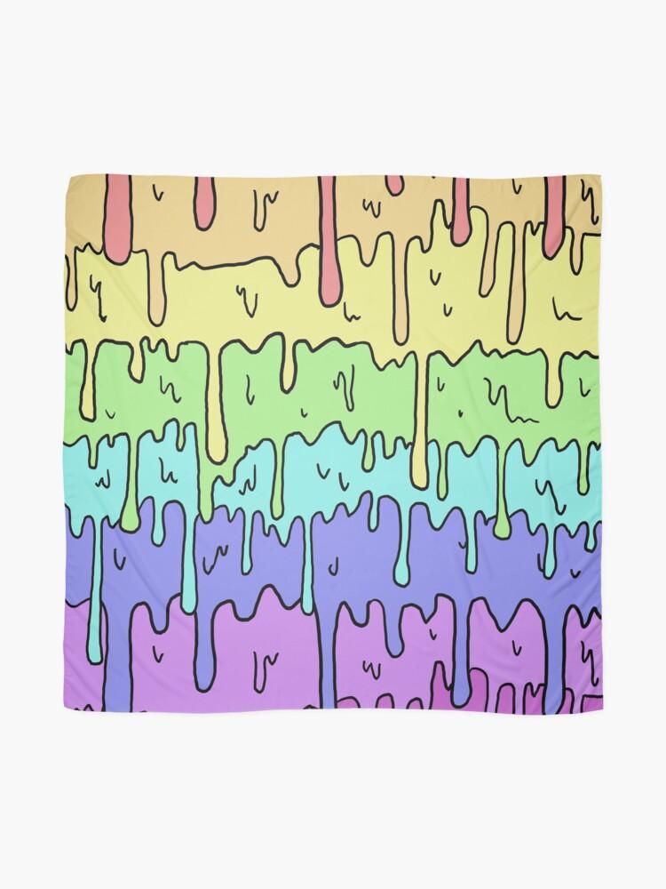 Alternative Ansicht von Pastell Kawaii schmelzender Regenbogen-Entwurf Tuch