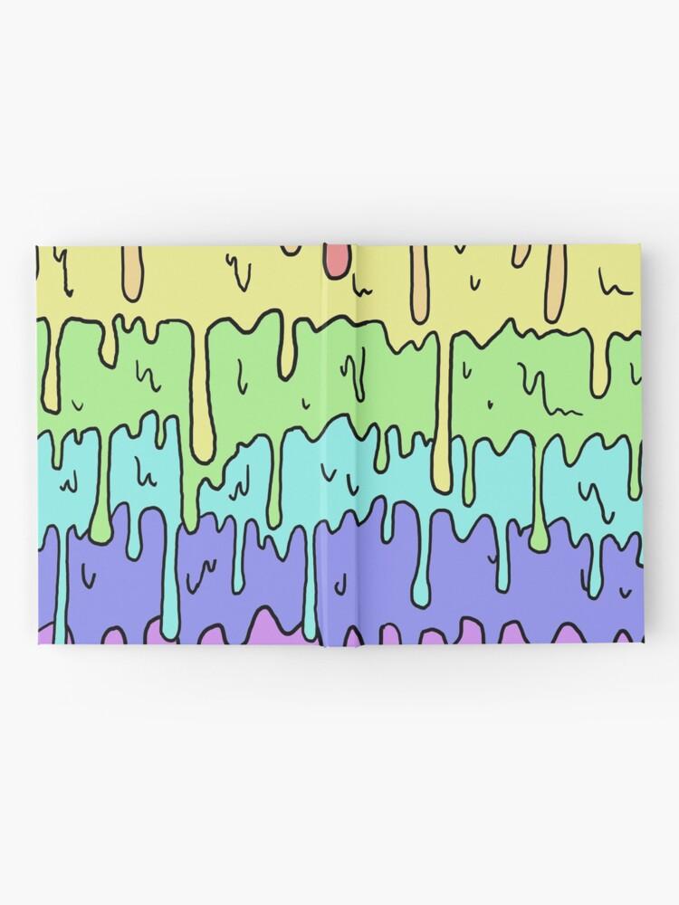 Alternative Ansicht von Pastell Kawaii schmelzender Regenbogen-Entwurf Notizbuch