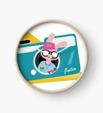 Julie Personalised Tee Clock