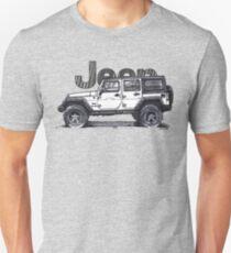 4dr Jk Unlimited - White Unisex T-Shirt