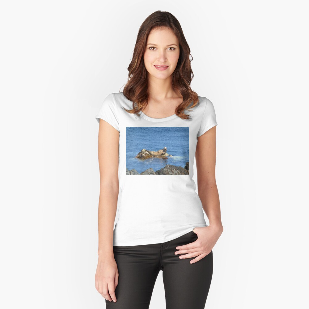 Just A Relaxing Seal Fitted Scoop T-Shirt