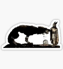 Tyr and Fenrir by John Bauer Sticker