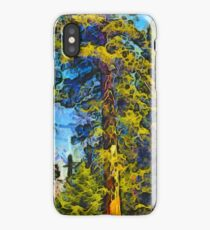 One Giant Abstract Sequoia by Barbara Snyder iPhone Case