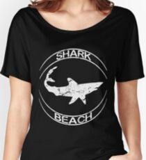 Shark Beach White Shark Distressed Women's Relaxed Fit T-Shirt