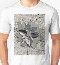 Flower and Monochrome Unisex T-Shirt