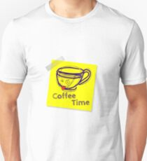 Coffee time smiley Unisex T-Shirt