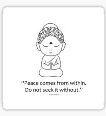Little Buddha with motivational quote Sticker