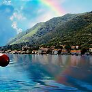 Rainbow In Kotor by Nancy Richard