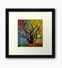 Purple Tree Framed Print