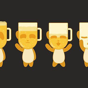Blonde Panda Beer (black) by animinimal