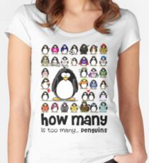 How Many Penguins is Too Many Penguins? Women's Fitted Scoop T-Shirt