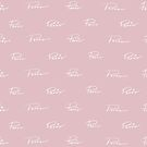 Paris Hand-Lettered Print Pattern by NeonPeaches