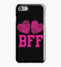 BFF with cute love hearts iPhone Case/Skin