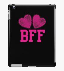 BFF with cute love hearts iPad Case/Skin