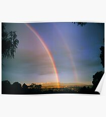 Yarra Valley Rainbow and The Dandenong Ranges. Poster