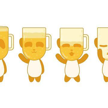 Blonde Panda Beer by animinimal