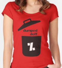 dumped doff Women's Fitted Scoop T-Shirt