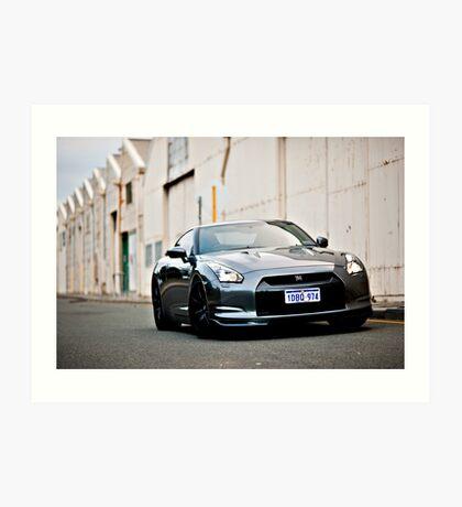 Nissan R35 GTR Art Print