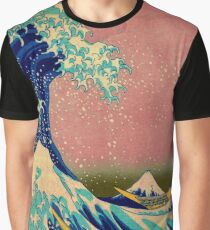 The Great Wave in Pink Japanese Art Graphic T-Shirt