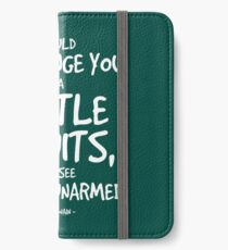 Battle of Wits Quote - Mark Twain iPhone Wallet/Case/Skin