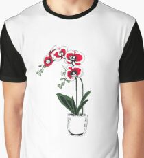 Minimal Moth Orchids Graphic T-Shirt