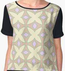 model stained glass window flower the structure of the seamless colorful repeat pattern Chiffon Top