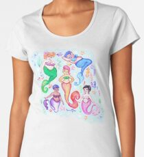 Kitschy Mermaids  Women's Premium T-Shirt