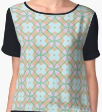 the structure of the symmetry stained glass window star abstraction designs seamless colorful repeat pattern Chiffon Top