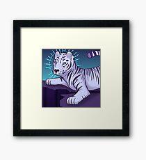 Etherial White Tiger Framed Print