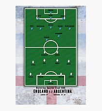 1986 World Cup Quarter Final - 'The Hand of God' England v Argentina  Photographic Print