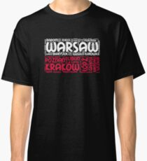 Poland Flag with City Names Word Art Classic T-Shirt