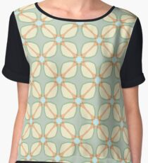 stained glass window imagination designs the illusion patterns ornament seamless colorful repeat pattern Chiffon Top