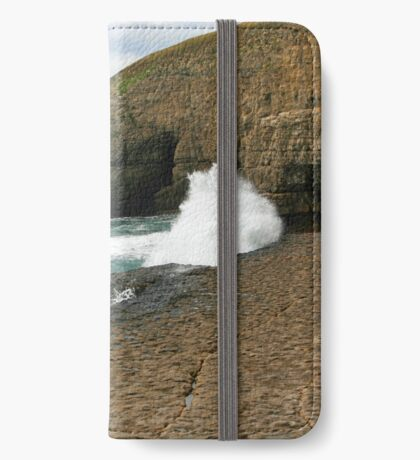 Waves On The Ledge iPhone Wallet