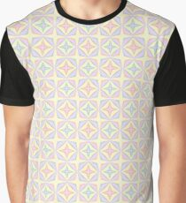 stained glass window the structure of the flower imagination designs seamless colorful repeat pattern Graphic T-Shirt