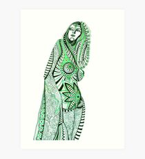 Sany.Waiting for a miracle.Portrait. Art Print