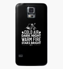 Camping Cold Air Dark Knight Warm Fire Stars Bright Case/Skin for Samsung Galaxy